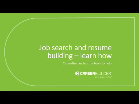 Job Search and Resume Building - Learn How