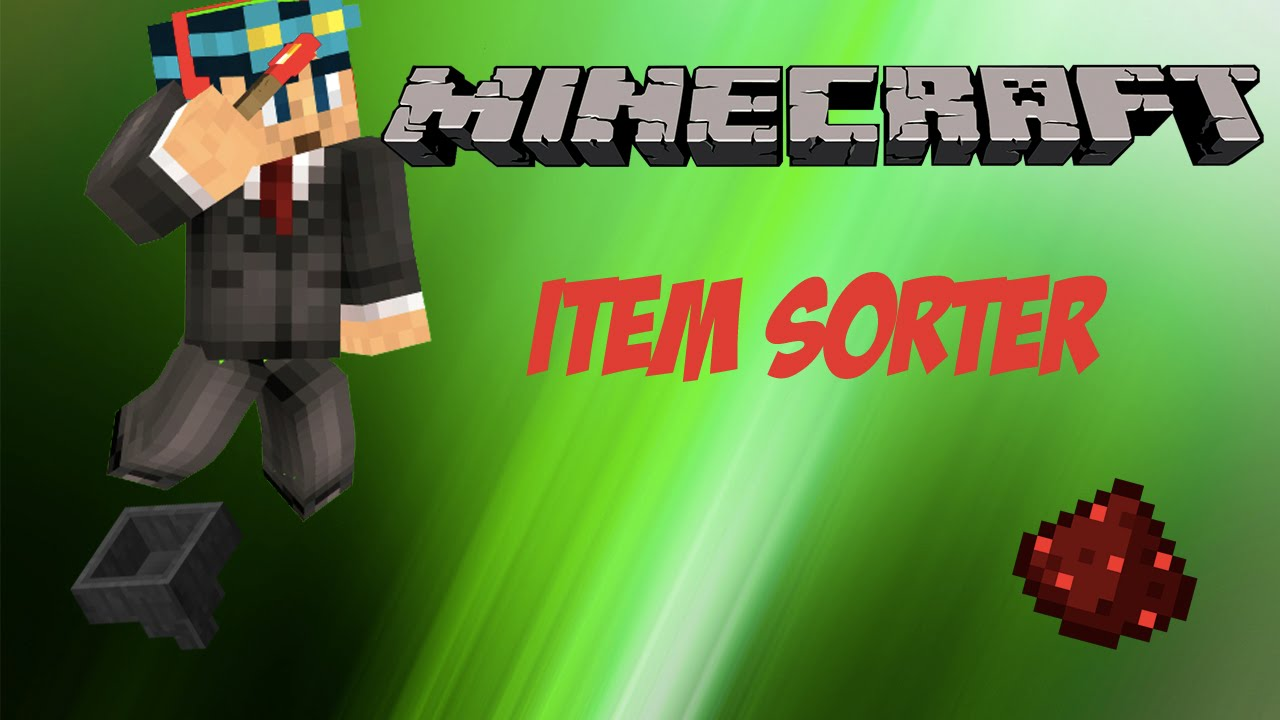 minecraft how to make an item sorter
