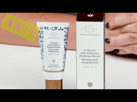 Drunk Elephant 🐘 🆕 D Bronzi Anti-Pollution Sunshine ⛅Serum Review, Swatch, and How to Use Demo