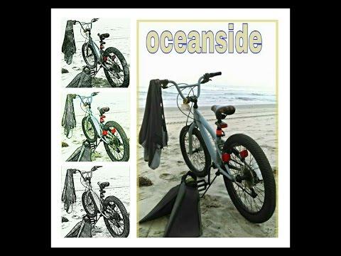 bike to the beach -OCEANSIDE CA