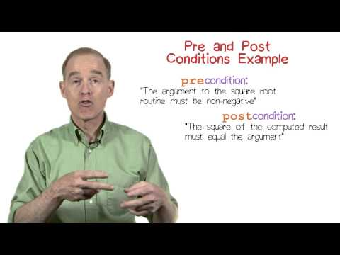 Pre and Post Conditions Example