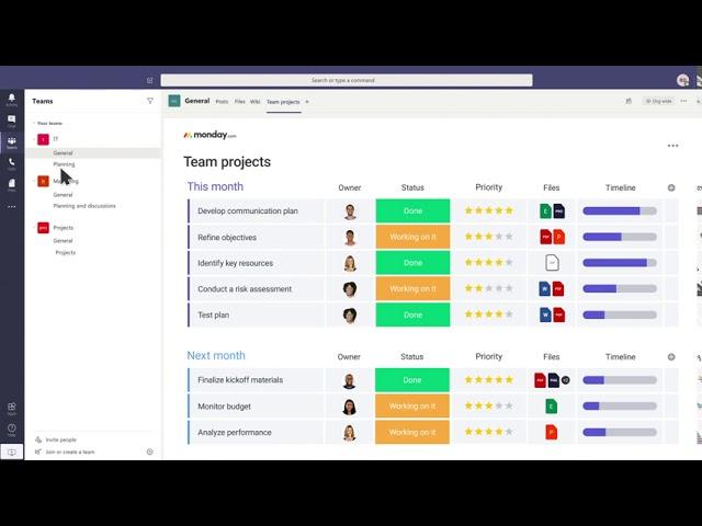 monday.com y Microsoft Teams son una combinación perfecta