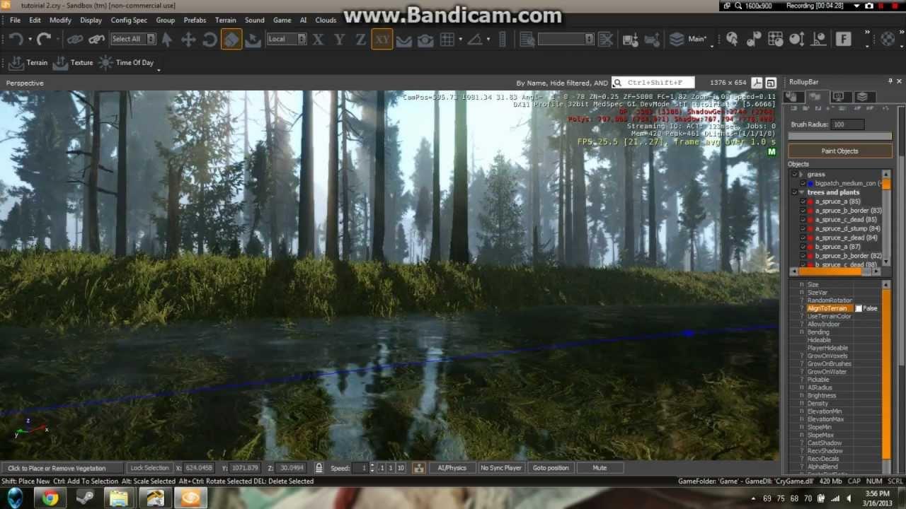 Cryengine 3 detailed foliage tutorial international silent.