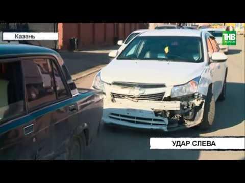 Жигули 7-й модели и Шевроле Круз столкнулись на пересечении улиц Нариманова и Мартына Межлаука | ТНВ