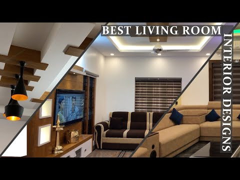 Living room interior design tour | furniture ideas | Fall ceiling and home decor | TV unit design
