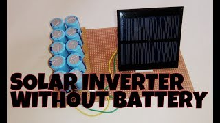 Free energy solar inverter | without battery using capacitor bank.
