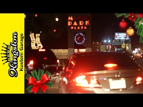 Christmas Eve Drive Around in  Kingston Jamaica 2016