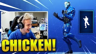 NINJA REACTS *NEW* CHICKEN DANCE EMOTE - Fortnite Best & Funny Moments (Fortnite Battle Royale)