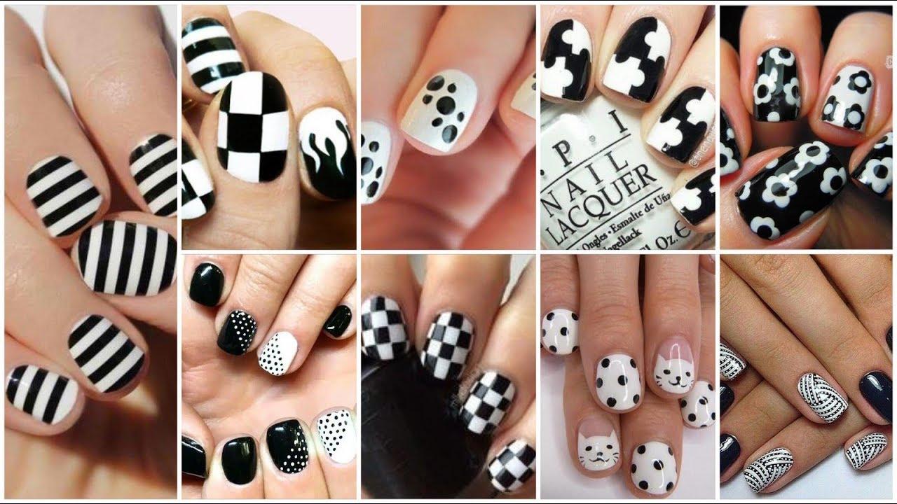 Stunning Black And White Nail Polish Designs Nail Art Nail