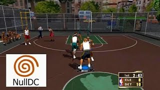 NBA 2k2 Dreamcast Widescreen HD 60fps nulldc gameplay (Sega, 2001)