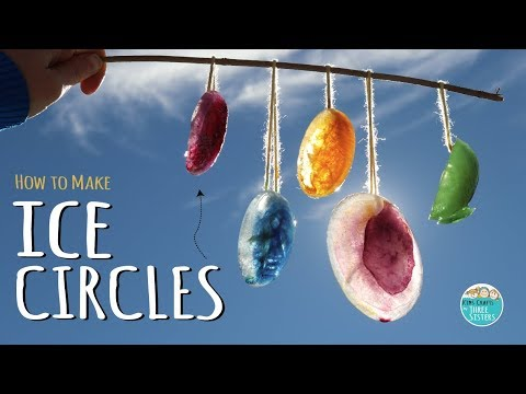 How to Make Ice Circles     Easy Winter Craft for Kids