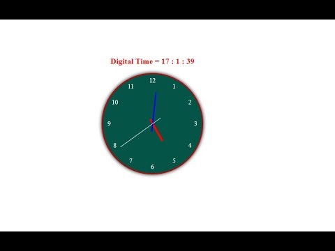 Analog Clock how to make analog clock with HTML CSS and Javascript