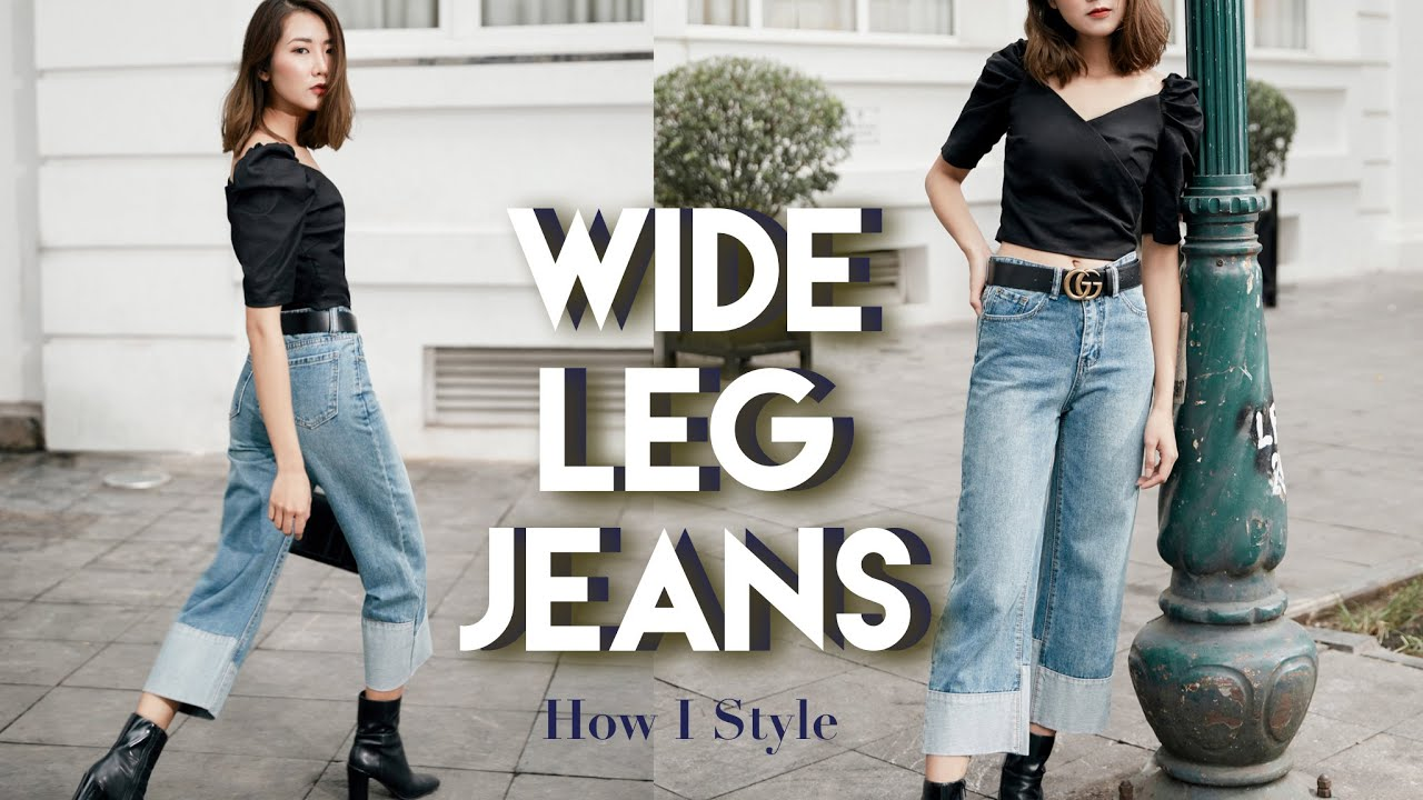 Bí quyết mặc quần jeans ống rộng cho mọi dáng người | How I style wide leg jeans | From Sue