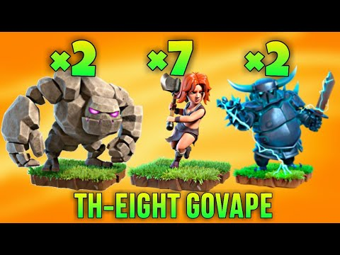 TH8 GoVaPe (Golem + Valkyrie + Pekka) War Attack Strategy | Part 1 | Clash of Clans