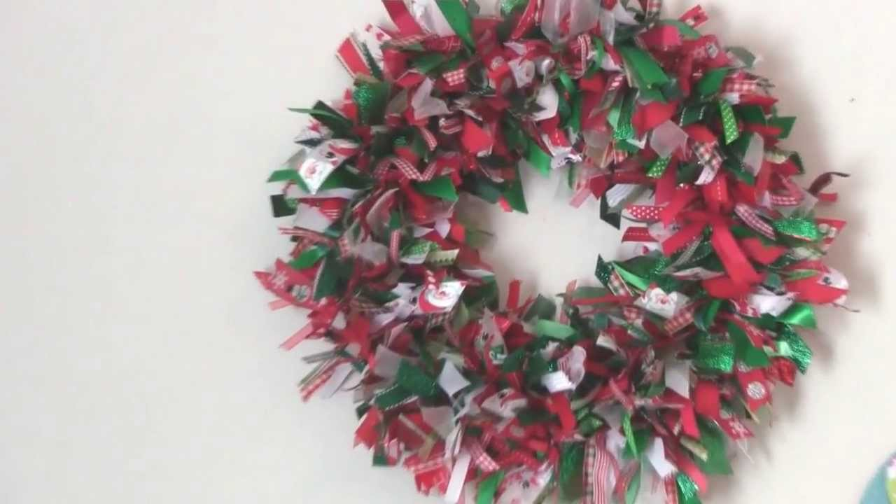 scrap ribbon wreath - Wire Wreath Frame With Ties