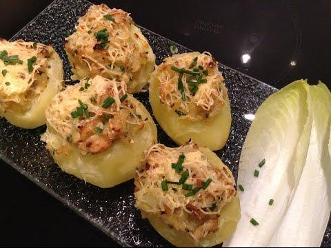 recette-facile:-pomme-de-terre-gourmande,-farcie-au-poulet.
