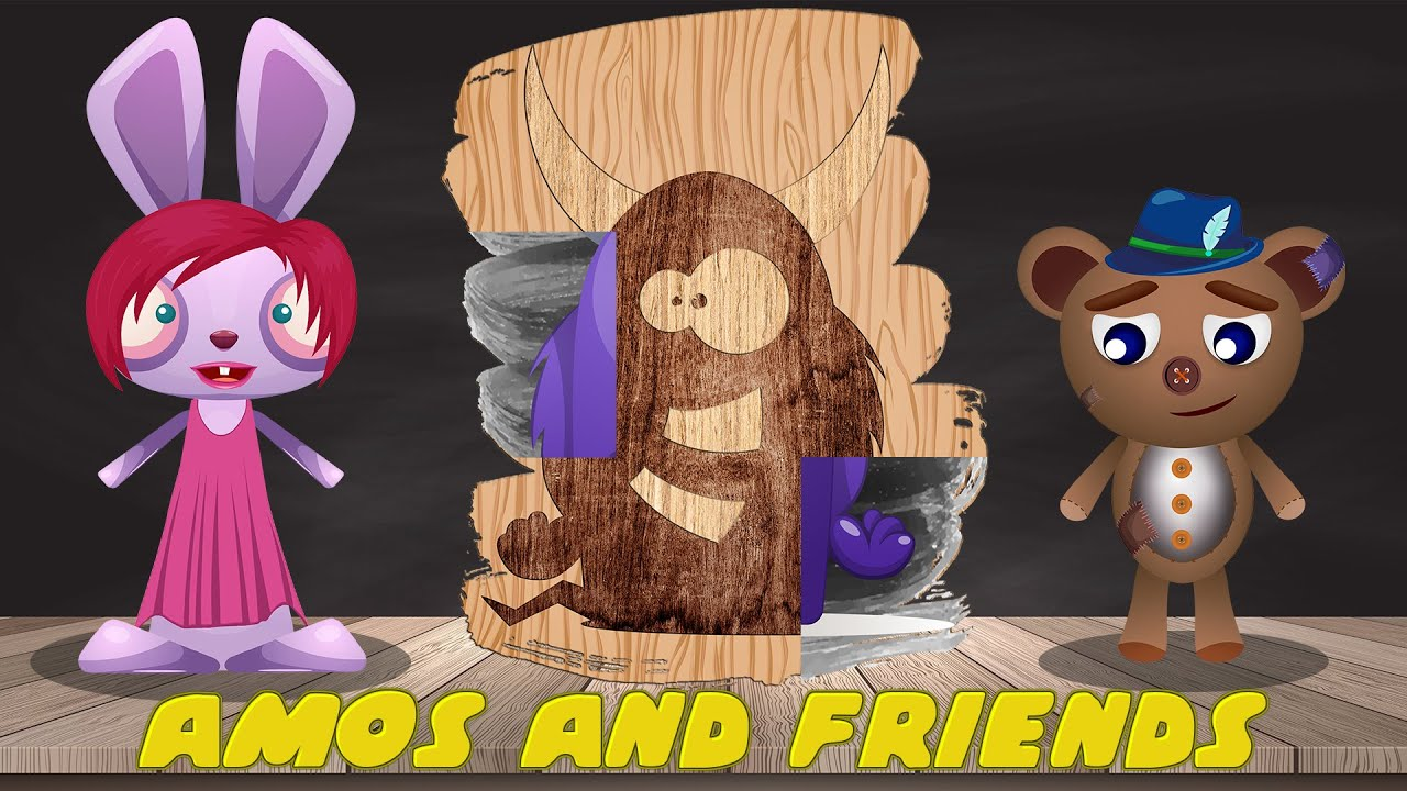 Amos and friends   Puzzles for kids vol 15