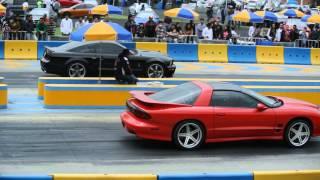 Pontiac Firebird vs Mustang Shelby. Arrancones Pegaso. Octubre 2014