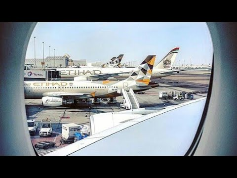 Etihad Airways A380 Boarding Music and Taxi at Abu Dhabi(AUH)