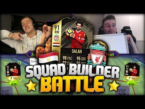 FIFA 18: 91 INFORM SALAH Squad Builder Battle vs FeelFIFA! 🔥😱