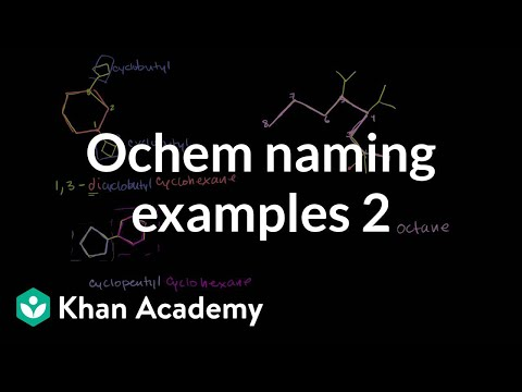 Organic chemistry naming examples 2 | Organic chemistry | Khan Academy