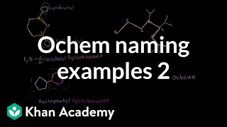 Organic chemistry naming examples 2 | Organic chemistry | Khan Academy