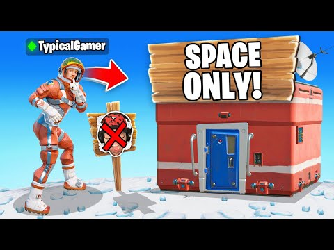 I Went UNDERCOVER in a SPACE ONLY Tournament! (Fortnite)