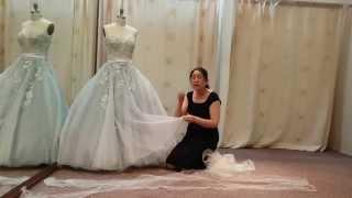Shorten princess ball gown wedding dress