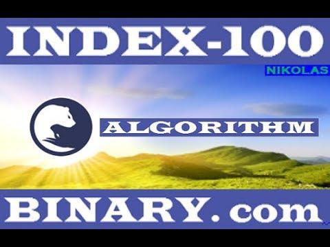 Index - 100 ALGORITHM Binary.com