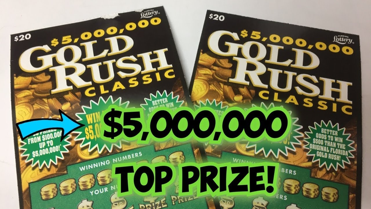$5,000,000 TOP PRIZE-GOLD RUSH CLASSIC $20 X 2 LETS GO!