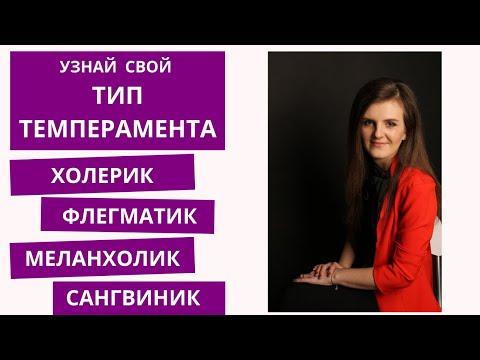 ТИП ТЕМПЕРАМЕНТА | САНГВИНИК / ХОЛЕРИК / МЕЛАНХОЛИК / ФЛЕГМАТИК