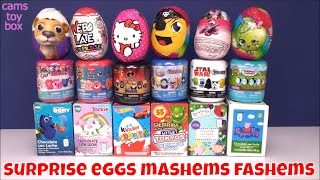 Chocolate Surprise Eggs Mashems Fashems TOYS Opening KIDS FUN Family