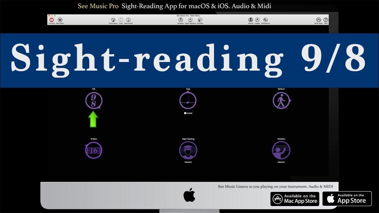 Sight-reading in 9/8  Music Education App macOS & iOS Demo