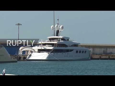 Russia: Most LUXURIOUS And Spacious Yacht In The World Docks In Sochi
