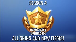 Fortnite Battle Royale - Purchasing Season 4, Opening Cutscene & All Tier Rewards
