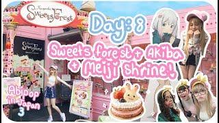CUTE CAKES & WAIFUS!♪ | Day 8 - Sweets Forest, Meiji Shrine & Akiba! | Abipop in Japan 3 - 2017 ♡