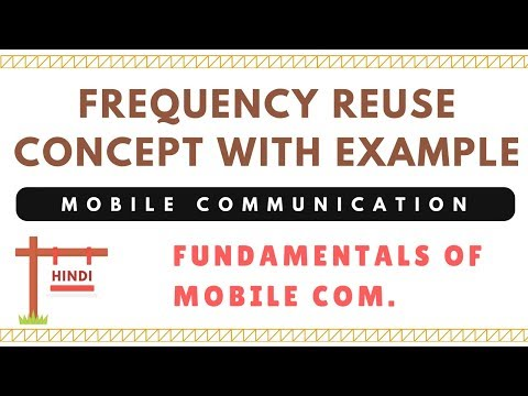 Frequency Reuse Concept With Solved Example | Mobile Communication | In Hindi