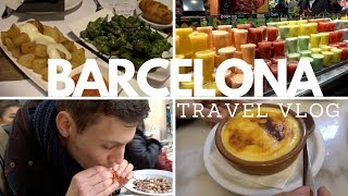 What to eat in Barcelona - Travel Vlog - Boqueria Market, Tapas, The Best Churros