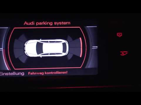 audi parking system plus - youtube