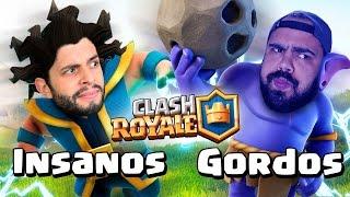 DESAFIO CARTAS GORDAS VS. CARTAS INSANAS NO CLASH ROYALE!