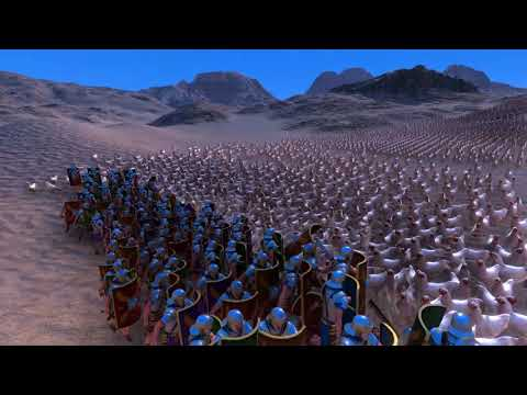 100 Roman Soldiers VS 5000 Chickens - UEBS Ultimate Epic Battle Simulator
