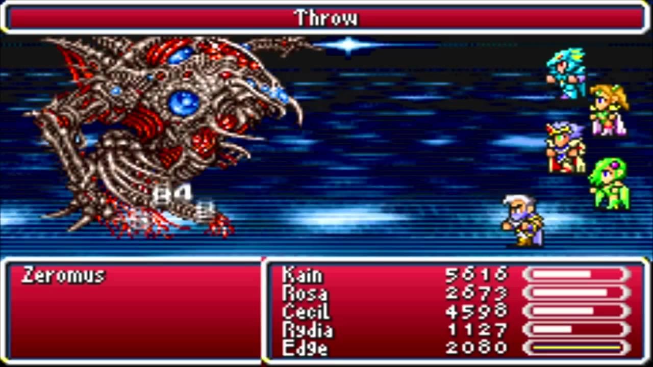 Final Fantasy 4 Advance (GBA) Boss #37 Zeromus - YouTube