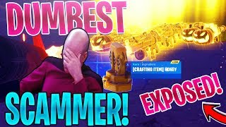 DUMBEST Scammer SCAMS Himself For GRAVEDIGGER *SCAMMER Gets SCAMMED* | Fortnite Save The World