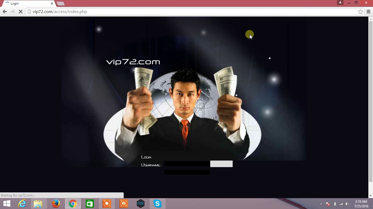 vip72 login