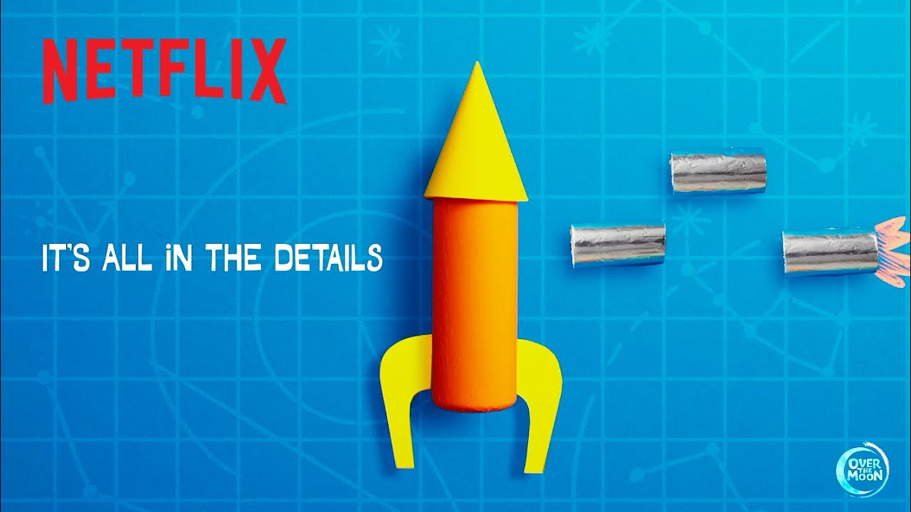 How to Build a Rocket DIY! 🚀 Over the Moon   Netflix Jr