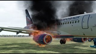 Russia Plane Crash, Aeroflot Superjet Crash During Emergency Landing, Sheremetyevo Airport [XP11]