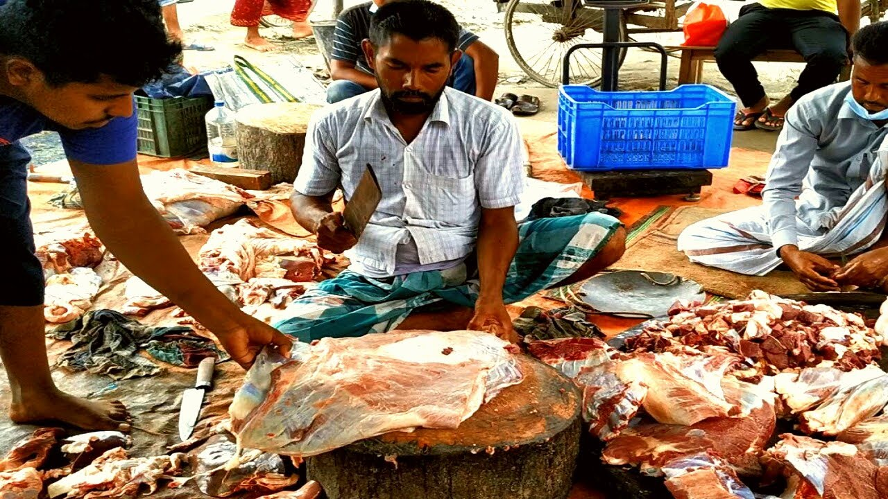 Beef Meat Cutting Skill Fastest Worker In Beef Market ...