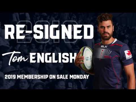 Tom English signs on for 2019