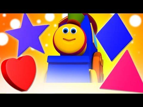 Aprenda Formas Série Divertida | Crianças Aprendendo Vídeo | Bob Train Songs | Shapes Fun Series