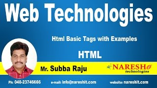 Html Basic Tags with Examples | Web Technologies Tutorial